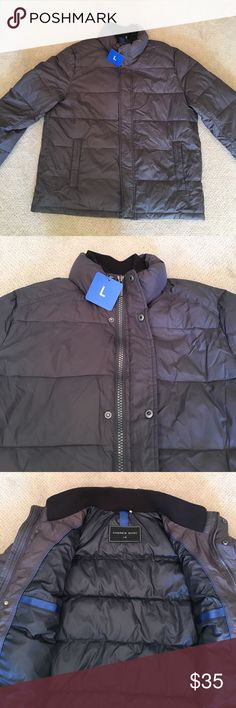 MENS Andrew Marc Puffer Jacket New With Tags Andrew Marc Puffer Jacket. Size: Large. Color: Deep Smoke Gray. This jacket is great for everyday use because it's light weight and warm with a water resistant shell and wind protector. It features a zipper and button closure for a more polished look. And also has two inside pockets for protected personals. Andrew Marc Jackets & Coats Puffers