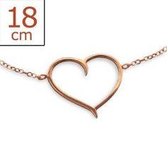 Heart Inline - 925 Sterling Silver Chain Bracelets