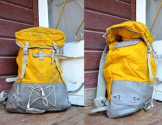 Vintage Rare Yellow Rene Desmaison French Made Sacs Millet Backpack