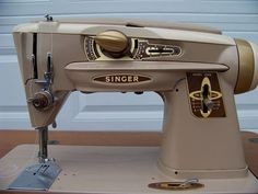Singer Slant O Matic Antique sewing machine by SilhouetteEngraver, $210.00