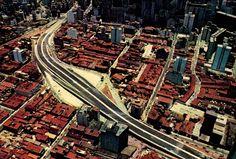 5 – Radial Leste Oeste no trecho do Viaduto Júlio de Mesquita Filho. É possível notar na parte superior do viaduto as ruas Abolição (mais a direita) e Major Diogo (a esquerda).