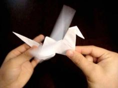 In this YouTube video, RobH takes you step by step though the creation of an Origami Flapping bird.  So get your sheet of paper, and following along.  He's a great instructor! #origami