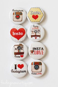 Instagram Flair Button by findingnana on Etsy