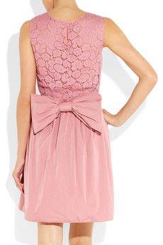 Nina Ricci pink taffeta and lace dress