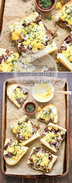 Philly Cheesesteak French Bread Pizza is a fun weeknight meal or the perfect make-at-home appetizer! #spon #HappiMess #DeltaLiving