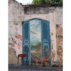 Painel pintado - porta