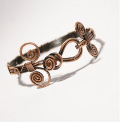copper bangle jewelry- copper wire wrapped Bracelet- wire wrapped jewelry handmade-copper jewelry. $34.00, via Etsy.
