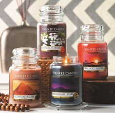 A collection of striking #YankeeCandle fragrances inspired by the African Continent - including #KilimanjaroStars, #SerengetiSunset, #EgyptianMusk & #MadagascanOrchid
