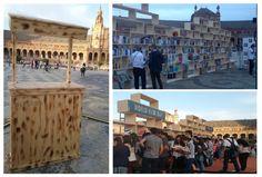 Buena combinación, libros y madera. #DíaInternacionaldelLibro #Sevilla #efímeras