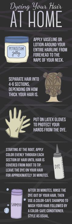 And here's what to do when you want to touch up your hair dye at home.
