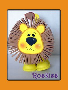 bello dulcero :)                                                       … Map Crafts, Diy And Crafts, Fiesta Decorations, Animal Crafts For Kids, Jungle Animals, Teaching Art, Mask For Kids, Punch Art, Handicraft
