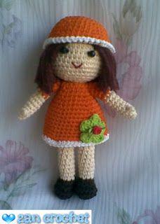 Zan Zan, The little Amigurumi Doll ~ Zan Crochet
