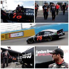 Martin Truex Jr. and Furniture Row Racing practice in Phoenix. #NASCAR
