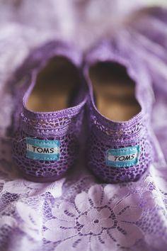 Purple  toms  weddingshoes - too cute!!  KariMe Photography  Purple Wedding 6e81b2bd6