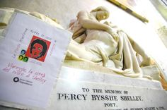 Memorial to Percy Bysshe Shelley POET by Henry Weekes, Christchuch Priory Church.
