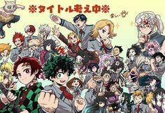 Fanarts Anime, Anime Films, Anime Characters, Otaku Anime, Manga Anime, Anime Art, Bakugou And Uraraka, Slayer Meme, Cartoon Crossovers