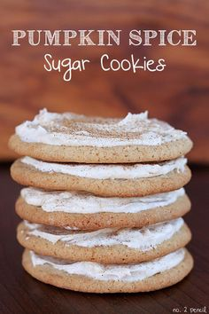 Frosted Pumpkin Spice Sugar Cookies