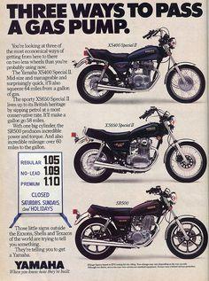 (1980) Yamaha XS400, XS650, SR500 Motorcycle Ad...