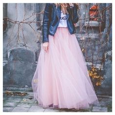 Blush Pink Maxi Tulle Skirt Tutu Skirt (£99) ❤ liked on Polyvore featuring skirts, grey, women's clothing, gray tulle skirt, tutu skirts, pink skirt, long pink skirt and pink tulle skirt