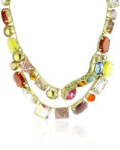 """Amazon.com: Rodrigo Otazu """"DNA"""" Brass Metal Double Row Snake Necklace: Jewelry"""