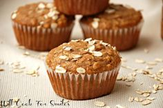Cinnamon Honey Oat Muffins - Will Cook For Smiles