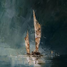 Boats by StudioUndertheMoon on DeviantArt Images D'art, Sailboat Art, Sailboats, Boat Painting, Love Art, Painting Inspiration, Art Pictures, Amazing Art, Watercolor Paintings