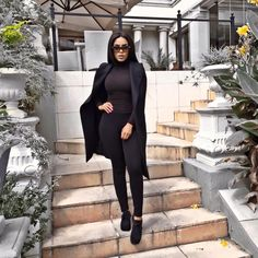 """And another one"" , in Dj khaled's voice 😆😅. Winter has arrived fam 😭😭🍂🌫❄️ Cute Casual Outfits, Chic Outfits, Fashion Killa, Fashion Trends, Fashion Inspiration, Women's Fashion, All Black Outfit, Black Outfits, Trouser Outfits"