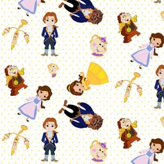 Belle of the Ball on yellow polka dots fabric by chicsquirlee on Spoonflower - custom fabric
