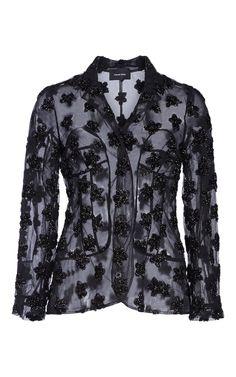 Star Flower Embroidery Jacket by SIMONE ROCHA for Preorder on Moda Operandi
