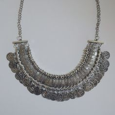 Bohemian silver coin statement necklace •silver bohemian coin statement necklace   •new, never used   •NO TRADES  •not Brandy Brandy Melville Jewelry Necklaces