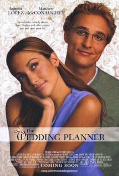 The Wedding Planner is a sweet romantic comedy about a groom (Matthew McConaughey) who discovers he is more interested in his highly organized, but quirky wedding planner (Jennifer Lopez) than his long-time fiancee. Matthew Mcconaughey, Old Movies, Great Movies, Girly Movies, Awesome Movies, Indie Movies, Wedding Planner Film, See Movie, Movie Tv