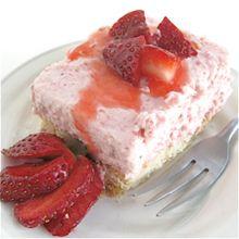 Strawberry Cream on Shortbread