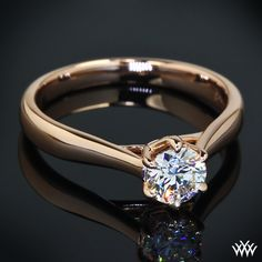"""Royal Crown"""" Solitaire Engagement Ring by Vatche is set in 18k Rose Gold. The delicate sweeping 6 prong head holds a brilliant 0.50ct Premium Select Diamond."""