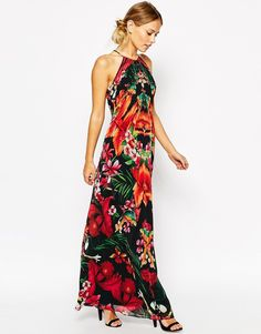 Image 4 of Ted Baker Maxi Dress in Tropical Toucan Print