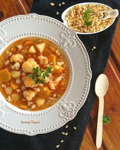 AranyTepsi: Gyors karfiolos tarhonyaleves Chana Masala, Baking, Ethnic Recipes, Food, Ideas, Bakken, Essen, Meals, Thoughts
