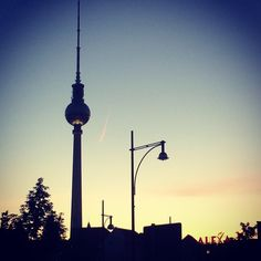 deeply in love!! #sunset #berlin #tvtower