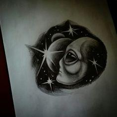 Space alien sketch