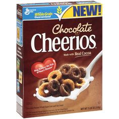 Have some chocolate Cheerios! You can satisfy your craving without feeling guilty! Want MORE chocolate! Try chocolate Cheerios with chocolate milk! It's amazing! Cheerios Cereal, Oat Cereal, Breakfast Cereal, Cereal Boxes, Breakfast Ideas, Kids Cereal, Crunch Cereal, Breakfast Menu, Free Breakfast