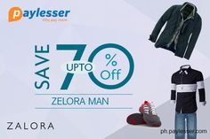 Get all the top selling Men Apparels and Accessories at up to 70% off. Shop now ! #Zalora #offer #Paylesser  Why pay more?