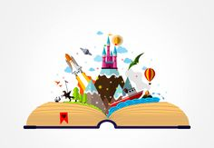 Get Free Stock Photos of Story Book - Childhood Imagination Concept Online School Murals, Creative Poster Design, Open Book, Picture Collection, Free Illustrations, Free Stock Photos, Storytelling, Childhood, Concept