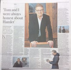 In today's Daily Telegraph newspaper ~ an interview with Kenneth Branagh. (https://twitter.com/ajsaladine/status/911186627615232001 )