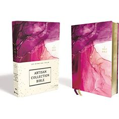NIV, Artisan Collection Bible, Cloth over Board, Pink, Art Gilded Edges, Red Letter, Comfort Print: Amazon.de: Zondervan: Fremdsprachige Bücher Make It Easy, Gilded Edge, Olivia And Joy, Foil Art, Alcohol Ink Painting, Watercolor Effects, Custom Fonts, Pink Art, Cover Design