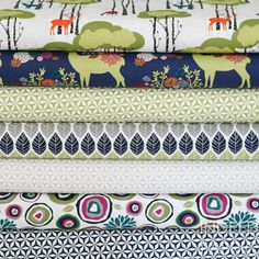 Seven lovely prints from Emily Herricks Rustique collection for Michael Miller Fabrics    One of each of the following Rustique prints:  Yes, Deer