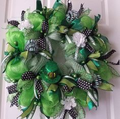 st. patrick's mesh wreath | ... St Patrick's Day, Shamrock Wreath, Deco Mesh St Pats Wreath, Wreaths