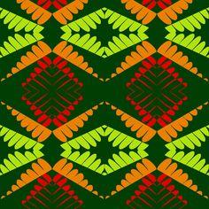 Orange Peaks Lemon Valleys fabric by sugar_bean on Spoonflower - custom fabric