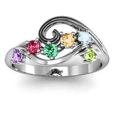 8 Stone Swirl Ring, Jeremy & I & Our 6 Kids