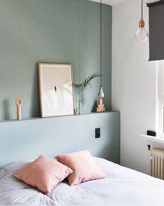 olijf groen op slaapkamermuur - Mathys Cachemire 'Vert Olivier'