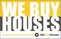 We Buy Houses Postcard Front