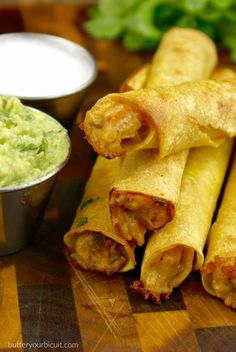 Chicken and Pepper Jack Cheese Taquitos