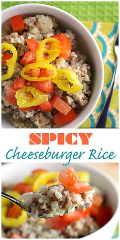 Spicy Cheeseburger Rice